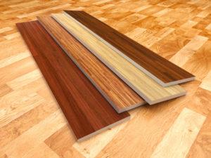 Wood floor. 3D illustration, color - brown